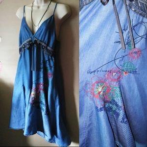 Desigual Dresses - Desegual Denim Happiness Dress
